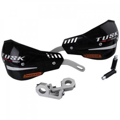 Защита рук Tusk D-Flex Pro Handguards с поворотниками черная двухточечная 22мм