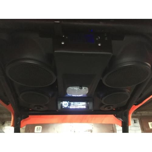 Крыша пластиковая RZR 1000 в сборе  (акустика+усилитель+магнитола)